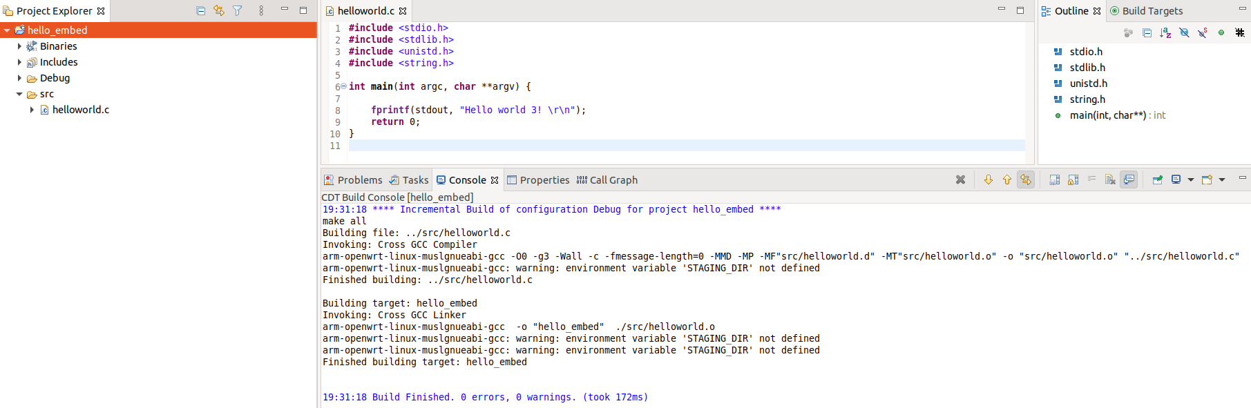 embedded linux development using eclipse
